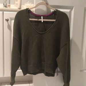 NWT free people crop sweater